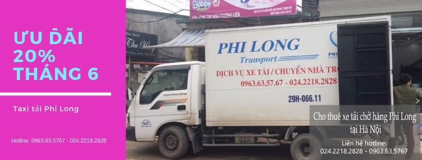 Dịch vụ taxi tải Phi Long tại phố Phúc Xá
