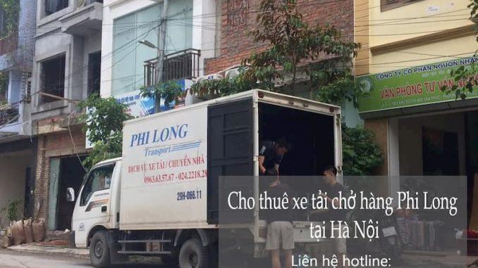 Dịch vụ xe tải chở hàng Phi Long tại đường Thanh Niên