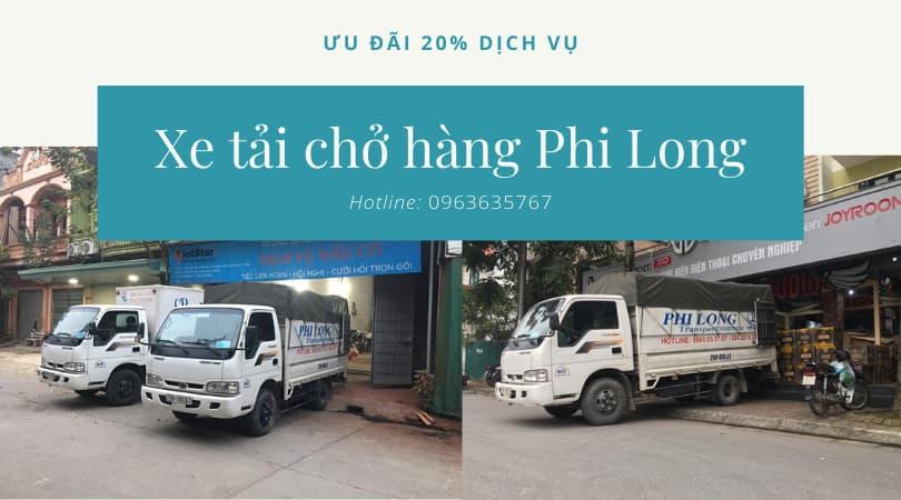 Dịch vụ taxi tải Phi Long tại xã Dương Liễu