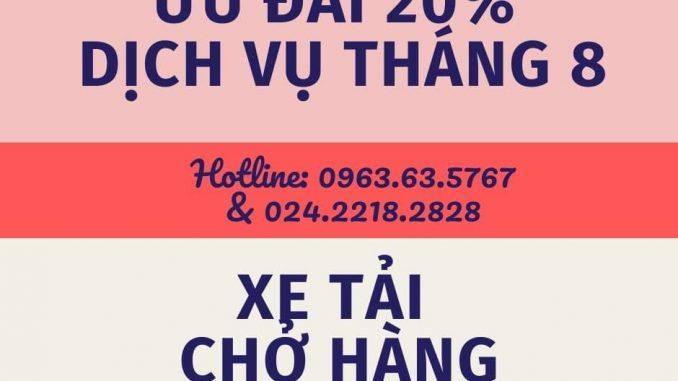 Dịch vụ taxi tải Phi Long tại xã Hồng Minh