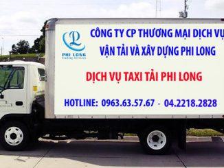 Dịch vụ taxi tải Phi Long tại xã Nam Triều