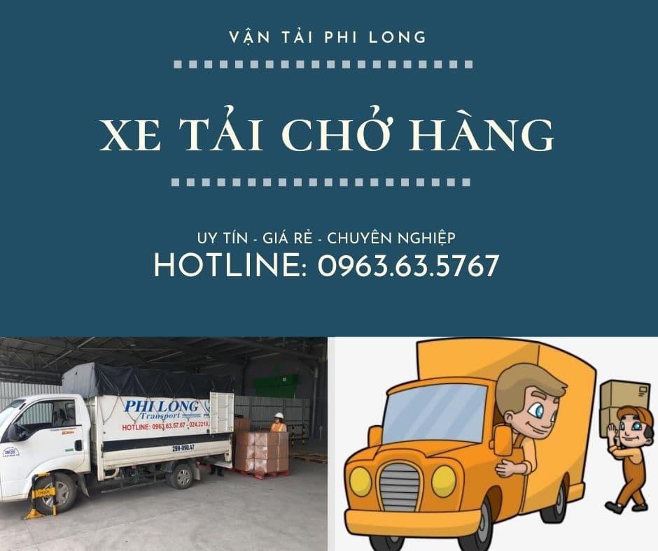 Dịch vụ taxi tải Phi Long tại xã Quang Lãng