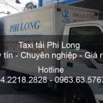 Taxi tải Phi Long từ đường Thạch Bàn đi Hải Phòng